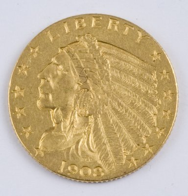 416: USA, $2.50 quarter eagle, 1908