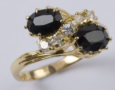 5: Ladies' sapphire & CZ ring