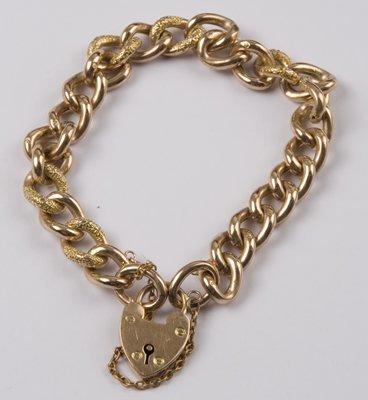 13: Ladies' antique curb bracelet