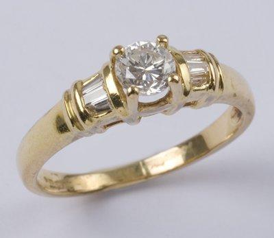 23: Ladies' diamond solitaire ring