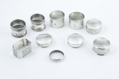 431: Various silver napkin rings (10)