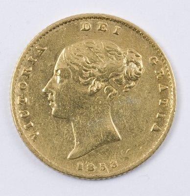 491: Victoria, half sovereign, 1853