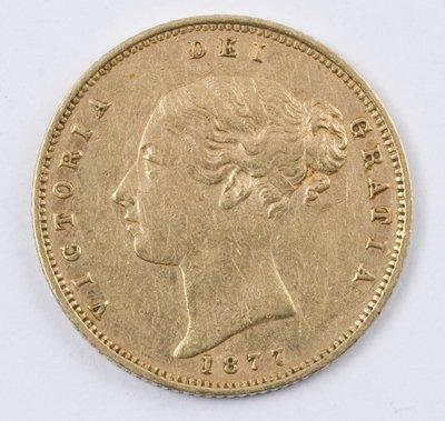 494: Victoria, half sovereign, 1877