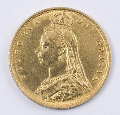 495: Victoria, half sovereign, 1887