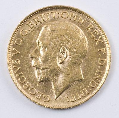 496: George V, sovereign, 1917 C