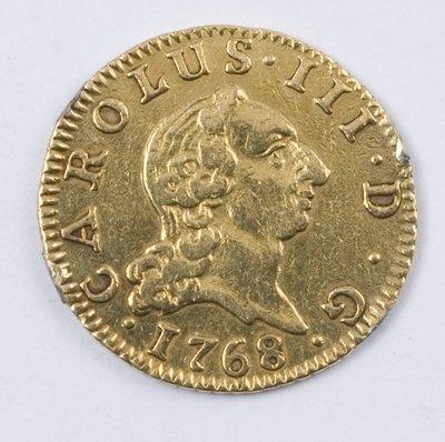 499: Spain, gold half escudo, 1768