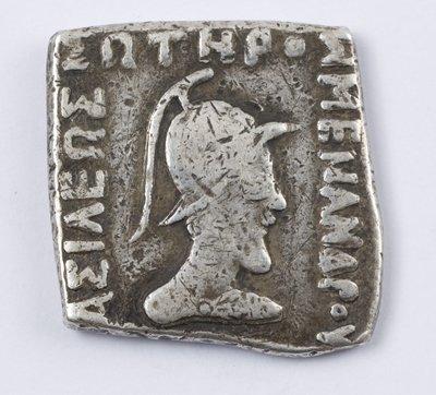 502: Baktria, Menander, square AR