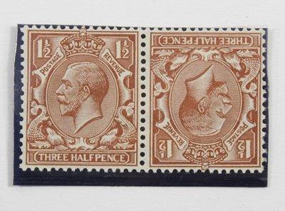 772: GB, George V threehalfpence, tete-beche pair