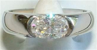 Ladies diamond solitaire ring