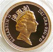 1054 Elizabeth II proof sovereign 1995