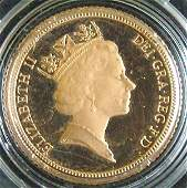 1194 Elizabeth II AV proof half sovereign
