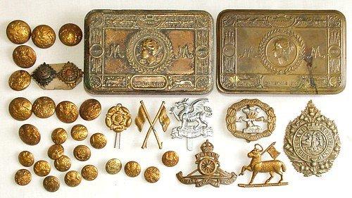 1438: Christmas 1914 tins (2), etc.