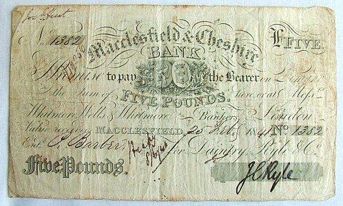 1442: Macclesfield £5 note