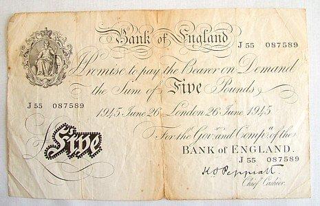 1447: Peppiatt £5, 26 June 1945