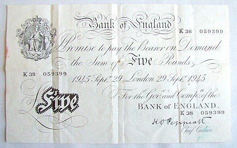 1448: Peppiatt £5, 29 Sept. 1945