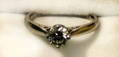 3: Ladies diamond solitaire ring
