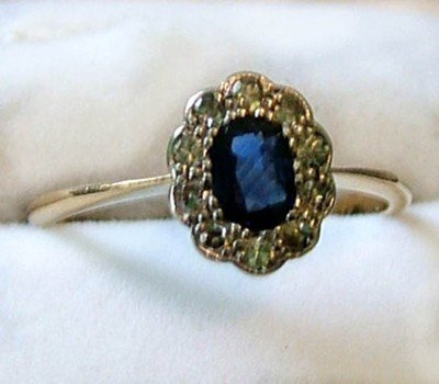8: Ladies sapphire and diamond cluster ring