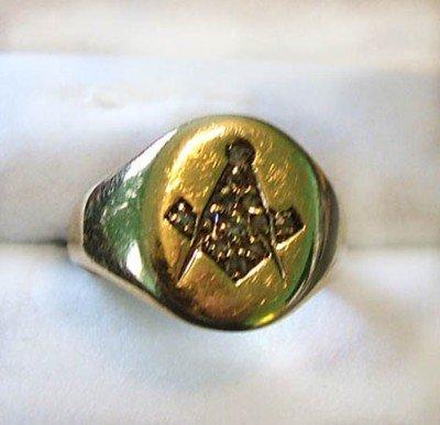9: Gents Masonic ring