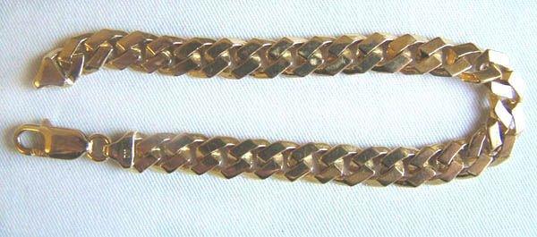 20: Gents flat curb bracelet