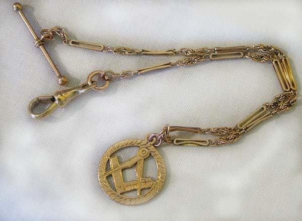 23: Antique single Albert chain