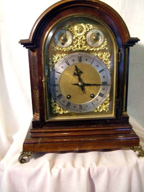 625: Wooden cased chiming clock