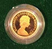 955 Elizabeth II proof sovereign 1980