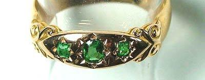 754: Ladies' antique emerald ring