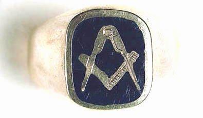 755: Gents' Masonic ring