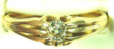 763: Gents' diamond solitaire ring