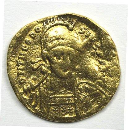 1146: Theodosius II gold solidus