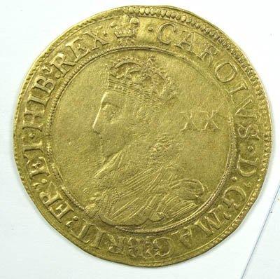 1153: Charles I gold unite