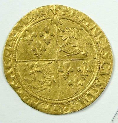 1155: Francis I gold ecu du dauphine