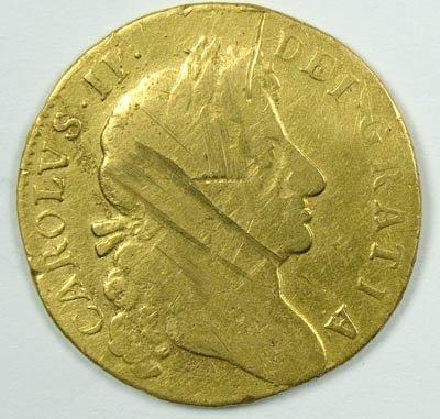 1156: Charles II guinea, 1680