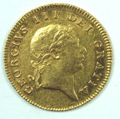 1162: George III half guinea, 1804