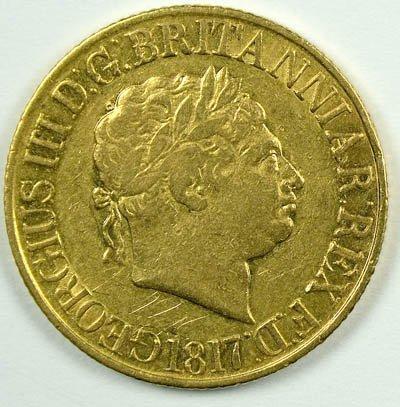 1163: George III sovereign, 1817