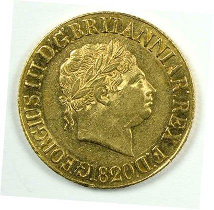 1164: George III sovereign, 1820