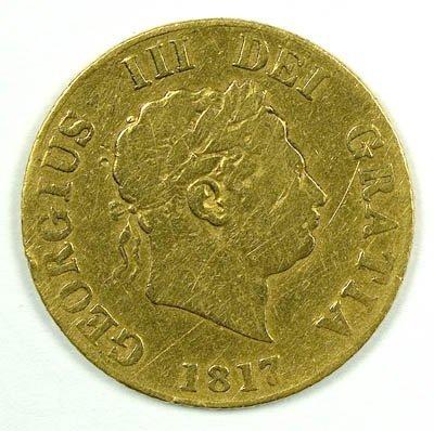 1165: George III half sovereign, 1817