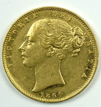 1167: Victoria, young head sovereign, 1864