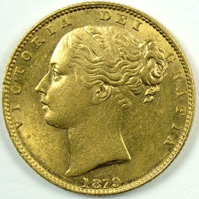1168: Victoria, young head sovereign, 1879 S