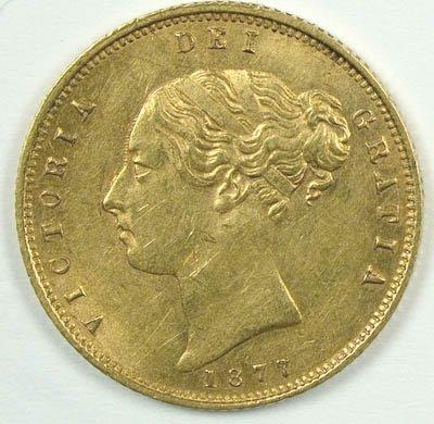 1169: Victoria, young head half sovereign, 1877