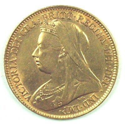 1177: Victoria, old head half sovereign, 1897