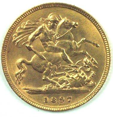 1177: Victoria, old head half sovereign, 1897 - 2