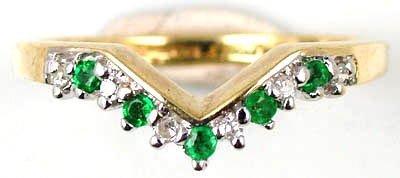 1: Ladies emerald and diamond ring