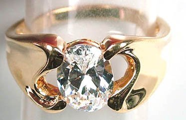 19: Ladies modernist ring