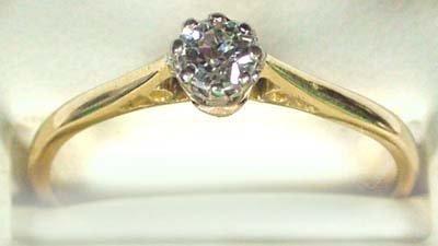 23: Ladies diamond solitaire ring
