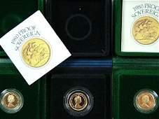 597 Elizabeth II gold proof sovereigns 3