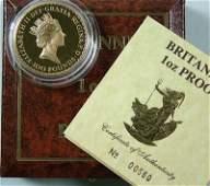 601 Elizabeth II gold proof 1oz Britannia