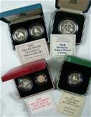 658 Elizabeth II silver proof 5 coin 1990 etc