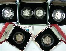 662 Elizabeth II silver proof 50 pences 6