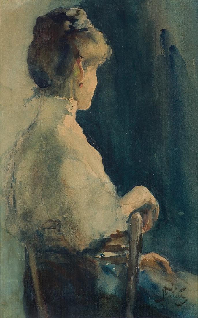 Falat Julian - WOMAN WITH RED EARRING, BEFORE 1900
